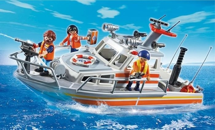 Playmobil rescue boat