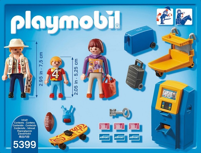 Playmobil Check in Stand and Family