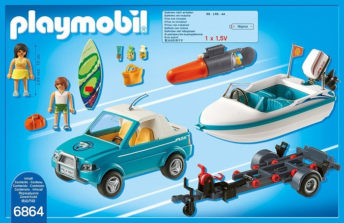 Playmobil surfers and Speedboat