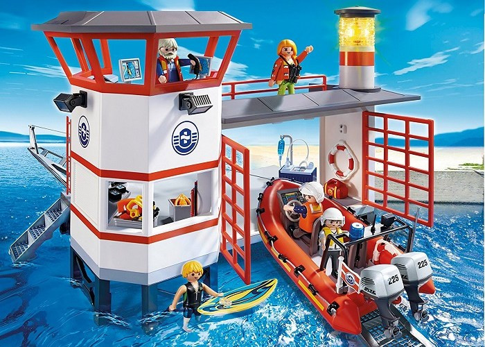 click to get to Playmobil coast guard