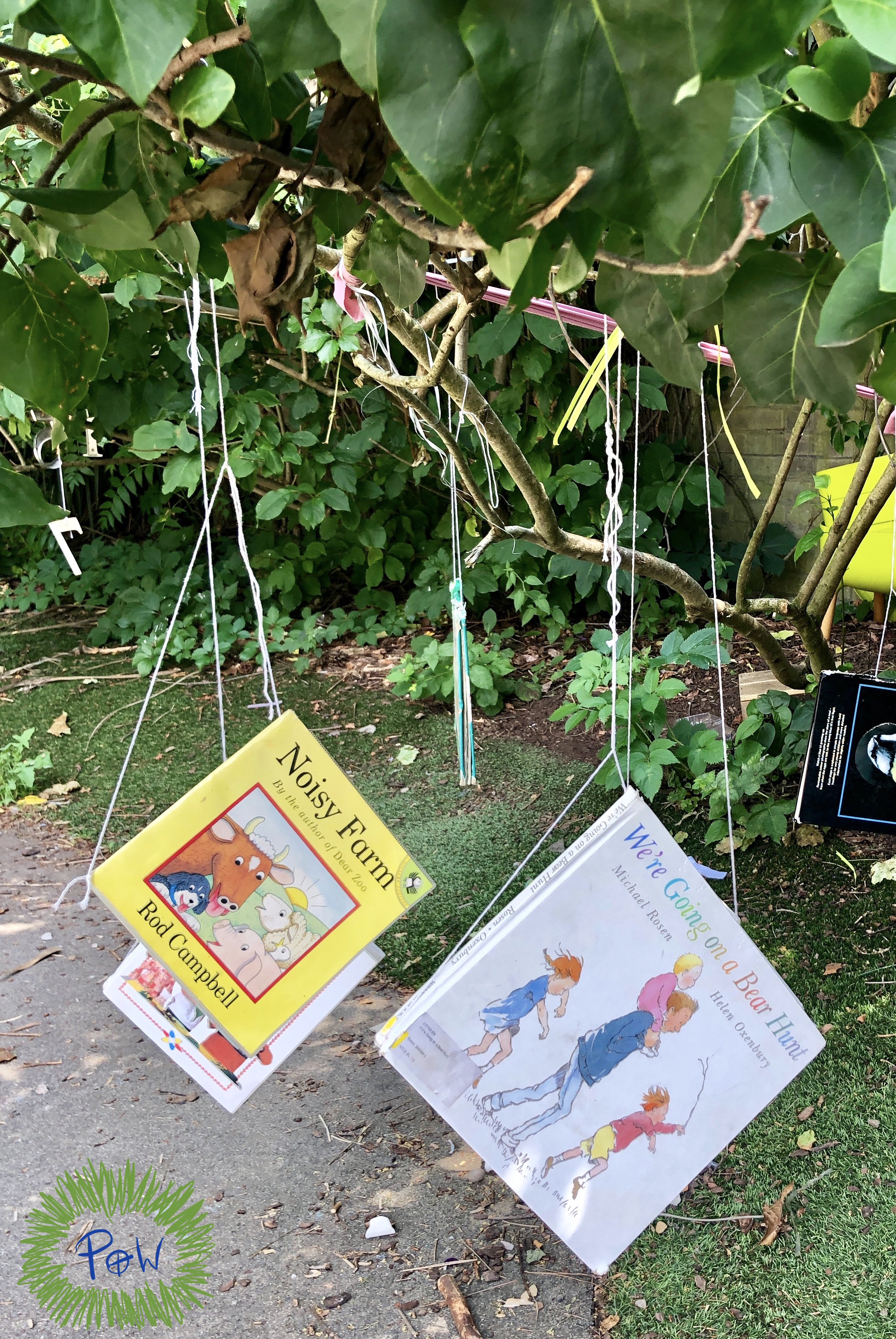 Setting up a Reading Area Outside. reading tree.