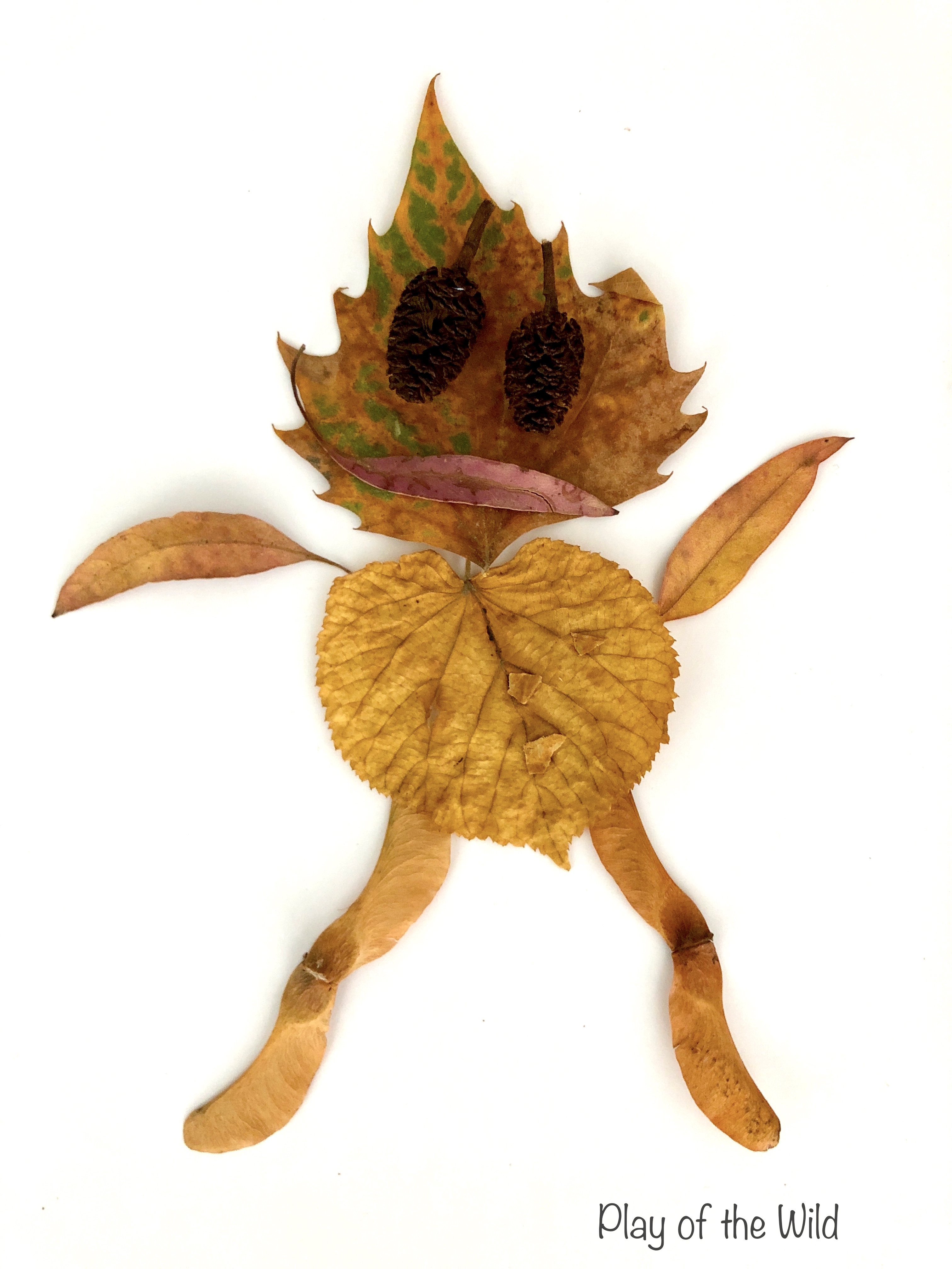 Leaf Lady. nature art.