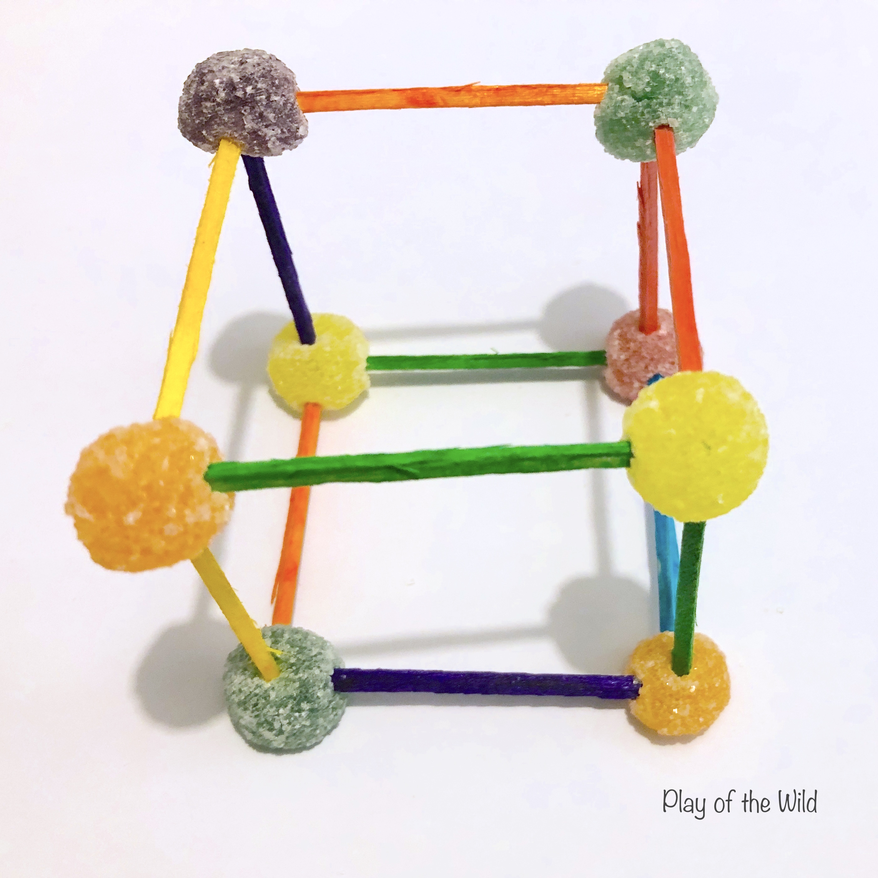 cube with toothpicks ad jelly tots