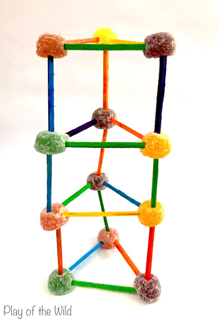 Christmas Fine Motor Activities. Stem jelly tot towers.
