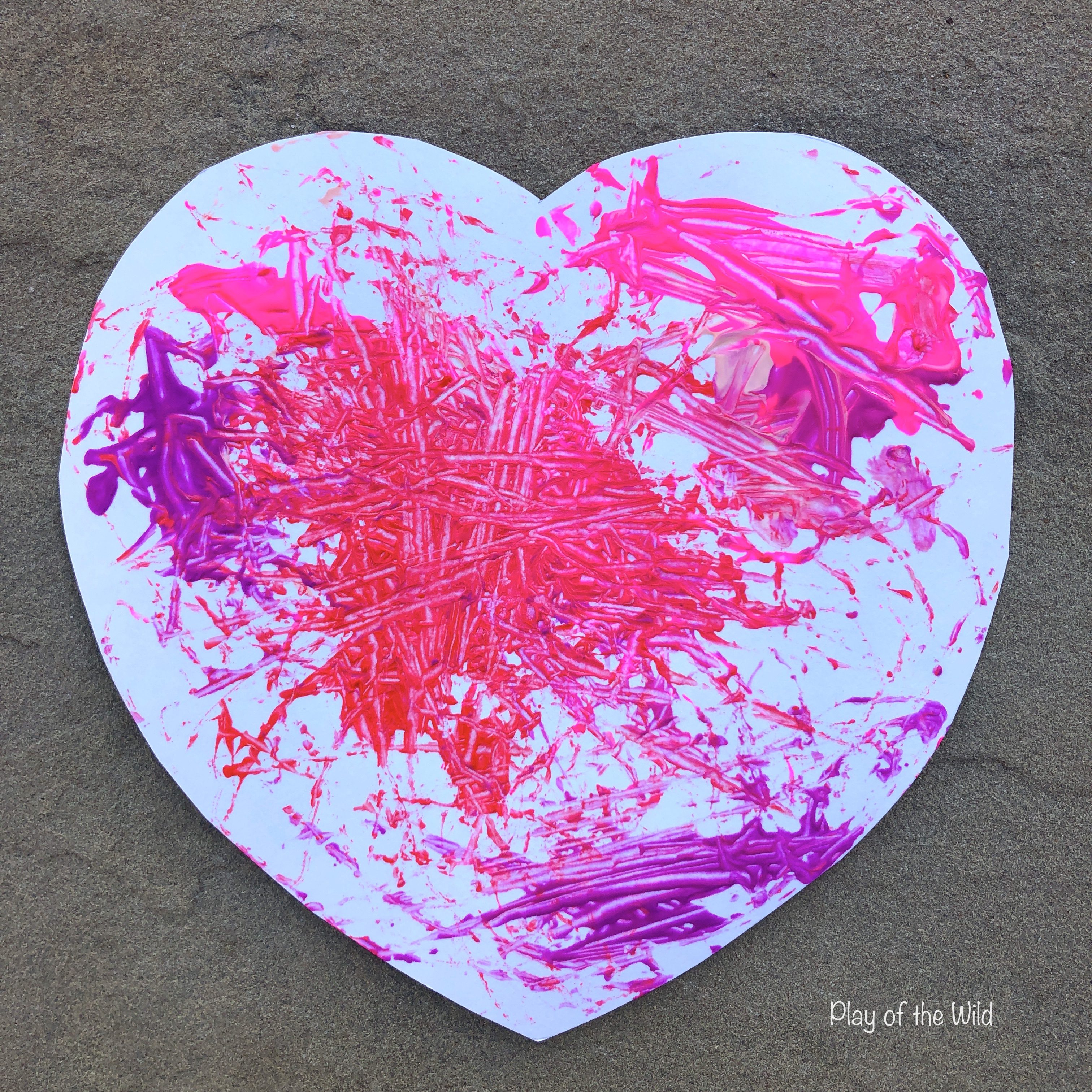 magnet painting. Valentines STEM Art Projects for Toddlers and Kids