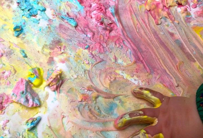 Painting with shaving foam. shaving cream paint recipe. frozen shaving cream foam paint.