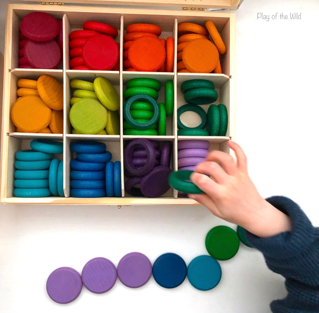 shapes loose parts play with grapats. How to Start Preschool at Home