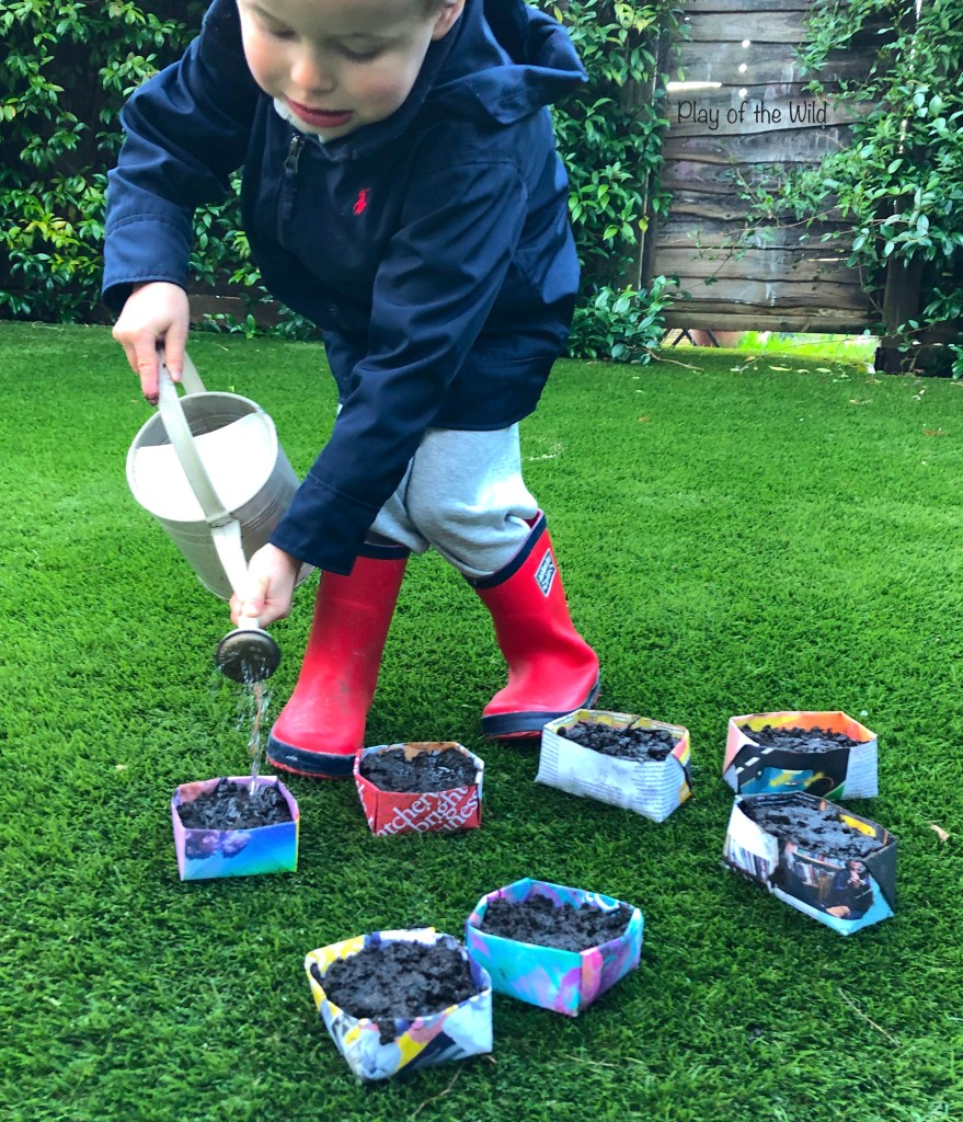 How to make a vegetable garden for kids. growing