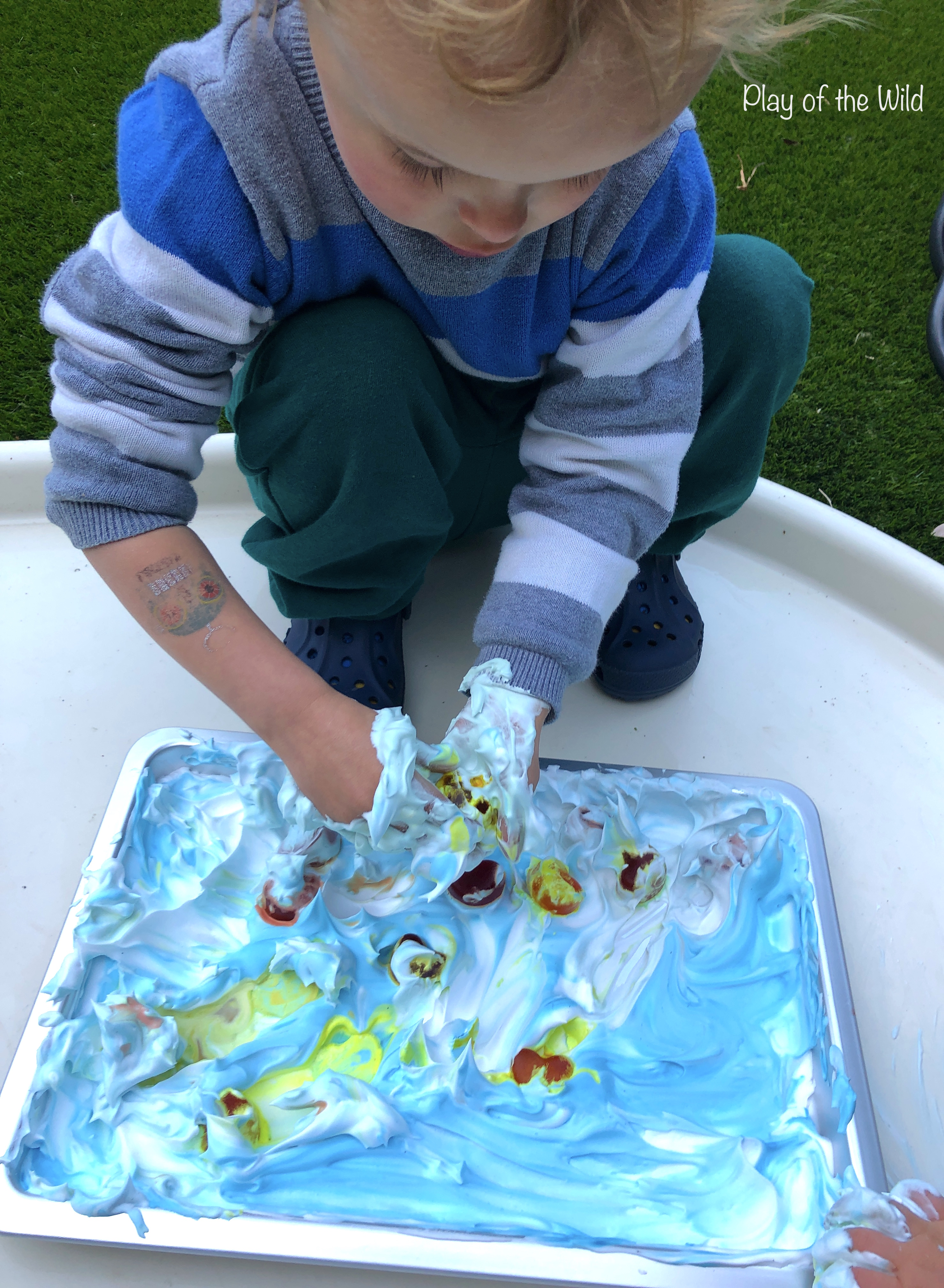 shaving foam and ice play ideas
