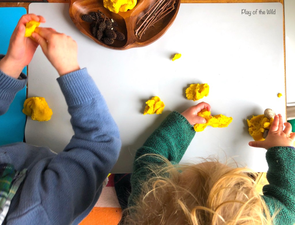 cooked playdough play with preschoolers and toddlers