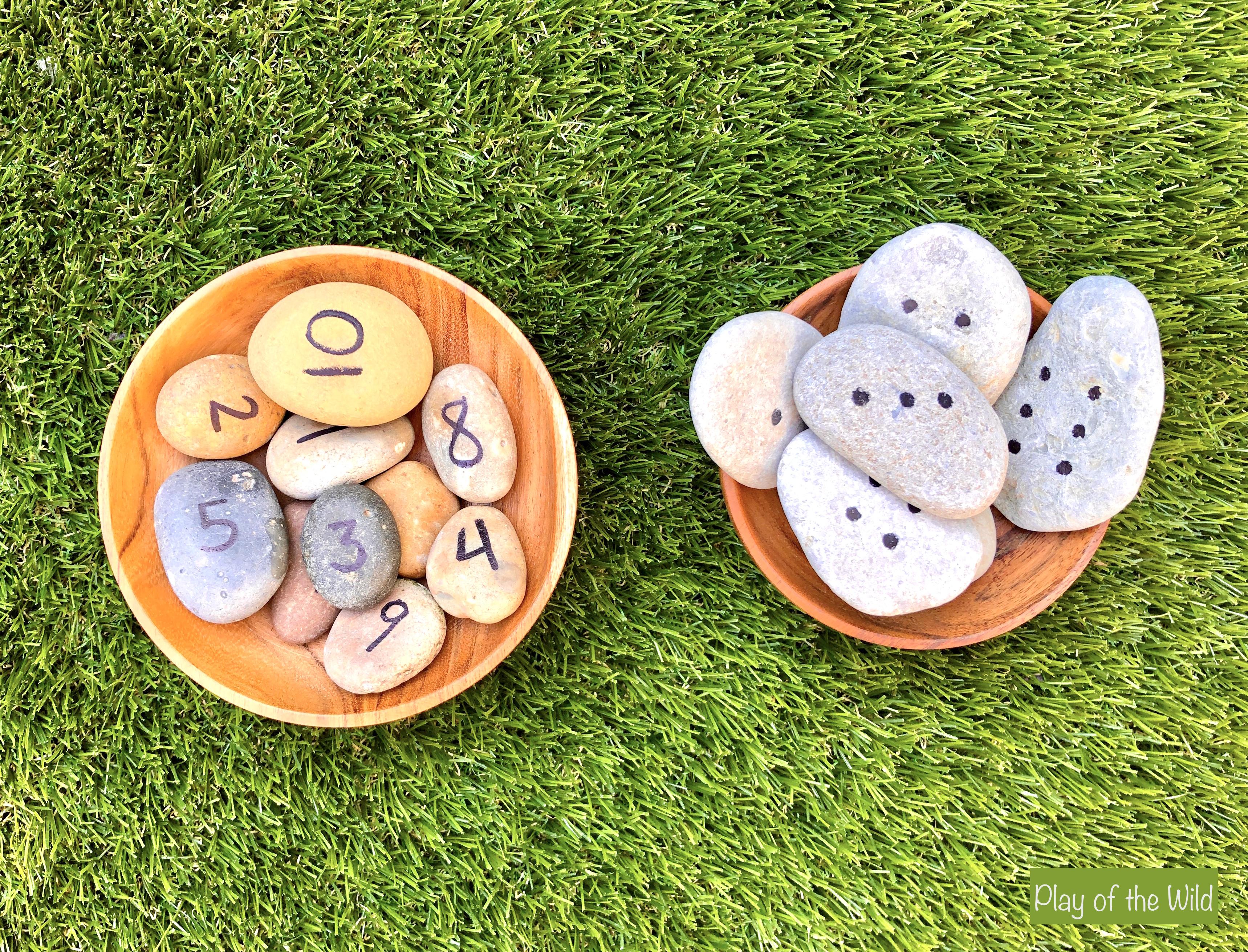 number and dice rocks. Outdoor Maths Activities EYFS – Outdoor Maths Ideas