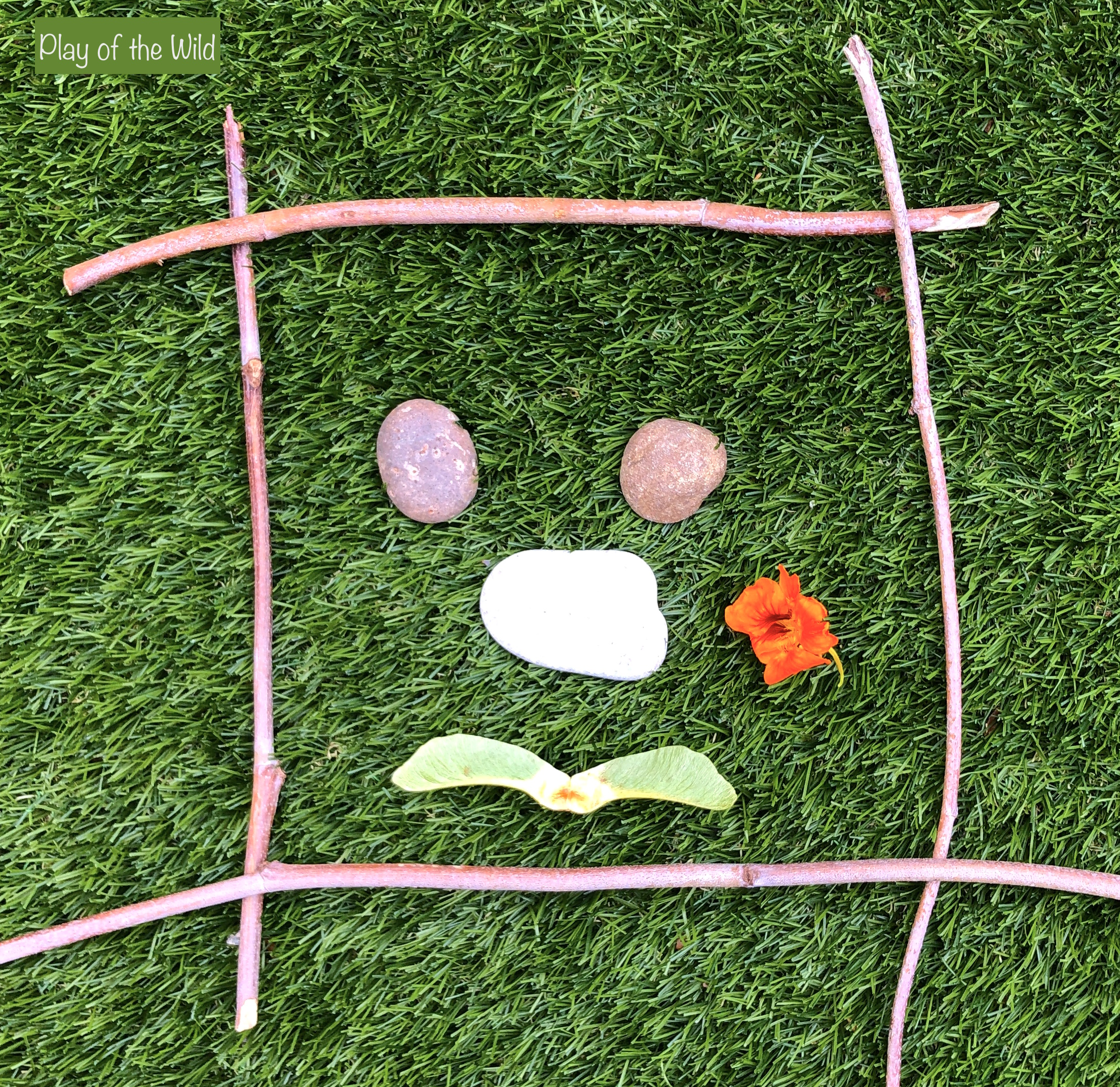counting objects 1 to 1 nature frame transient art for kids and children