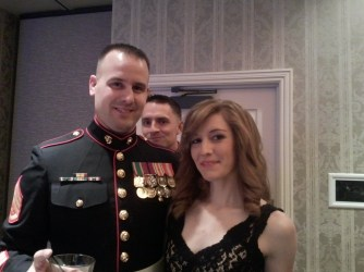 A bonus nice photo of us at the ball. If you disregard his photobombing friend.