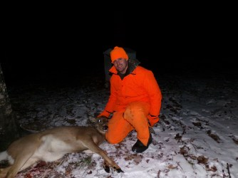 Matt and the second doe on the last night.