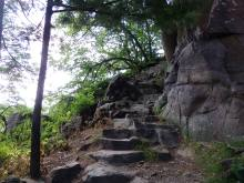 Semi-natural stone steps