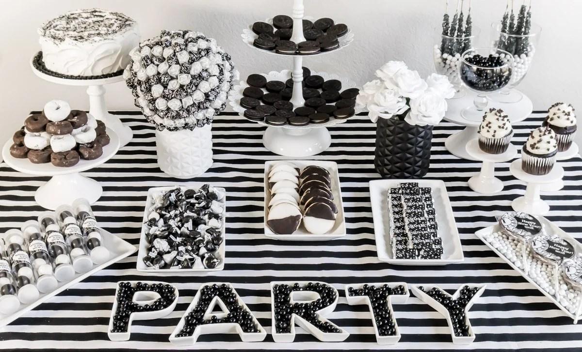 Black And White Party Decorations Ideas Novocom Top