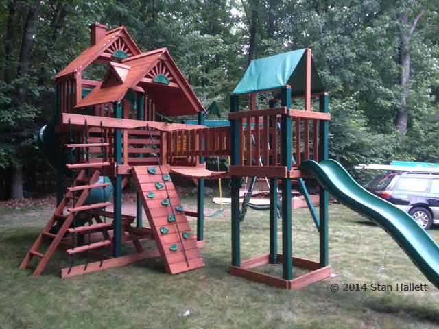 Gorilla Playsets Treasure Trove Swing Set Playset Installation