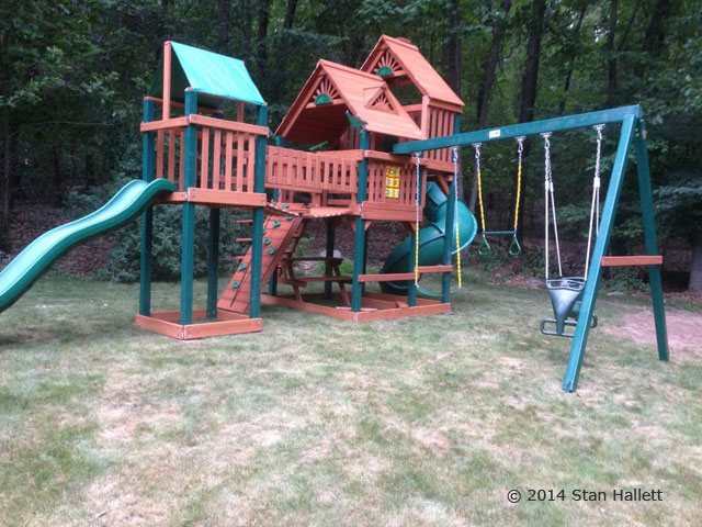 Gorilla Playsets Treasure Trove Playset Installation Swing Set