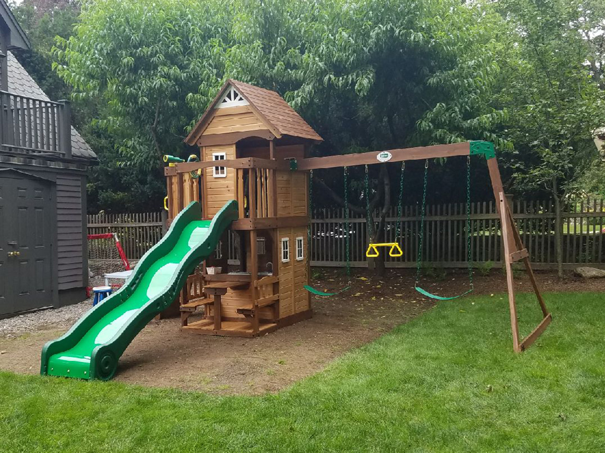 Backyard Discovery Mount Triumph Swing Set Installation