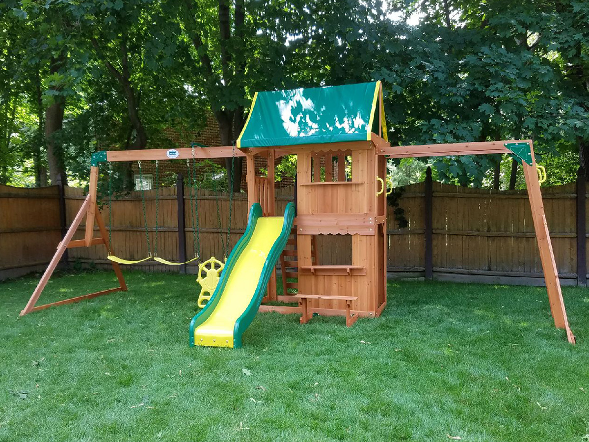 Backyard Discovery Prairie Ridge Swing Set Playset