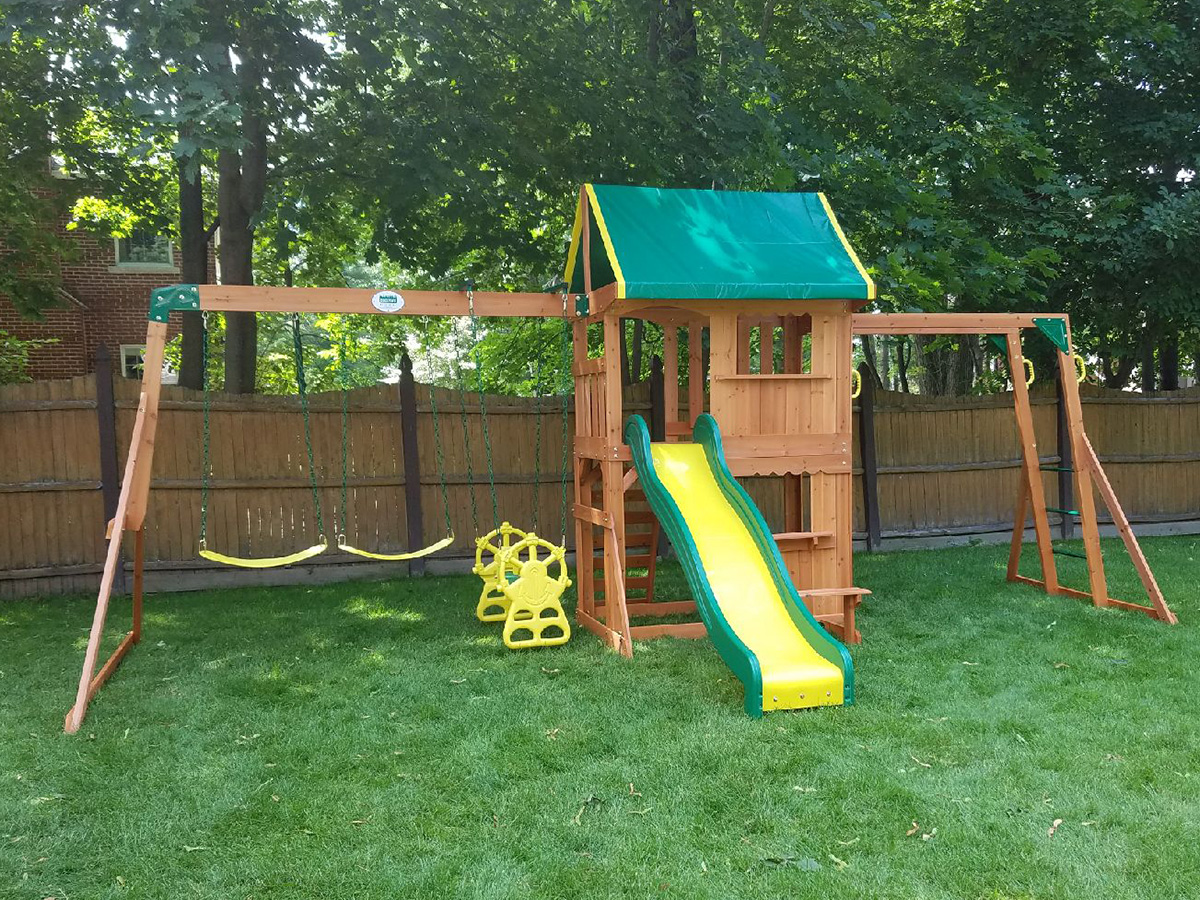 Backyard Discovery Prairie Ridge Swing Set - New England Playset Assembly, Manchester, NH – Playset Installation