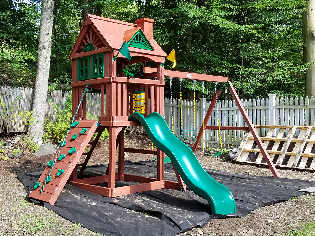Gorilla Nantucket Swing Set Installation
