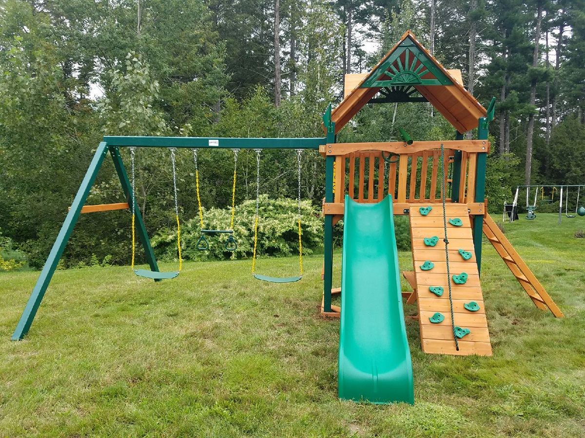 Goriilla Chateau Swing Set Installation in Nashua, NH