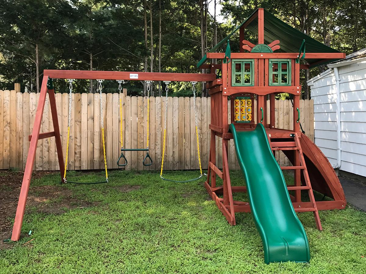 Gorilla Highcrest Swing Set Installation