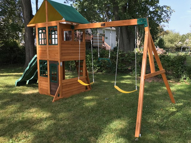 Big Backyard Treasure Cove Swing Set Installed
