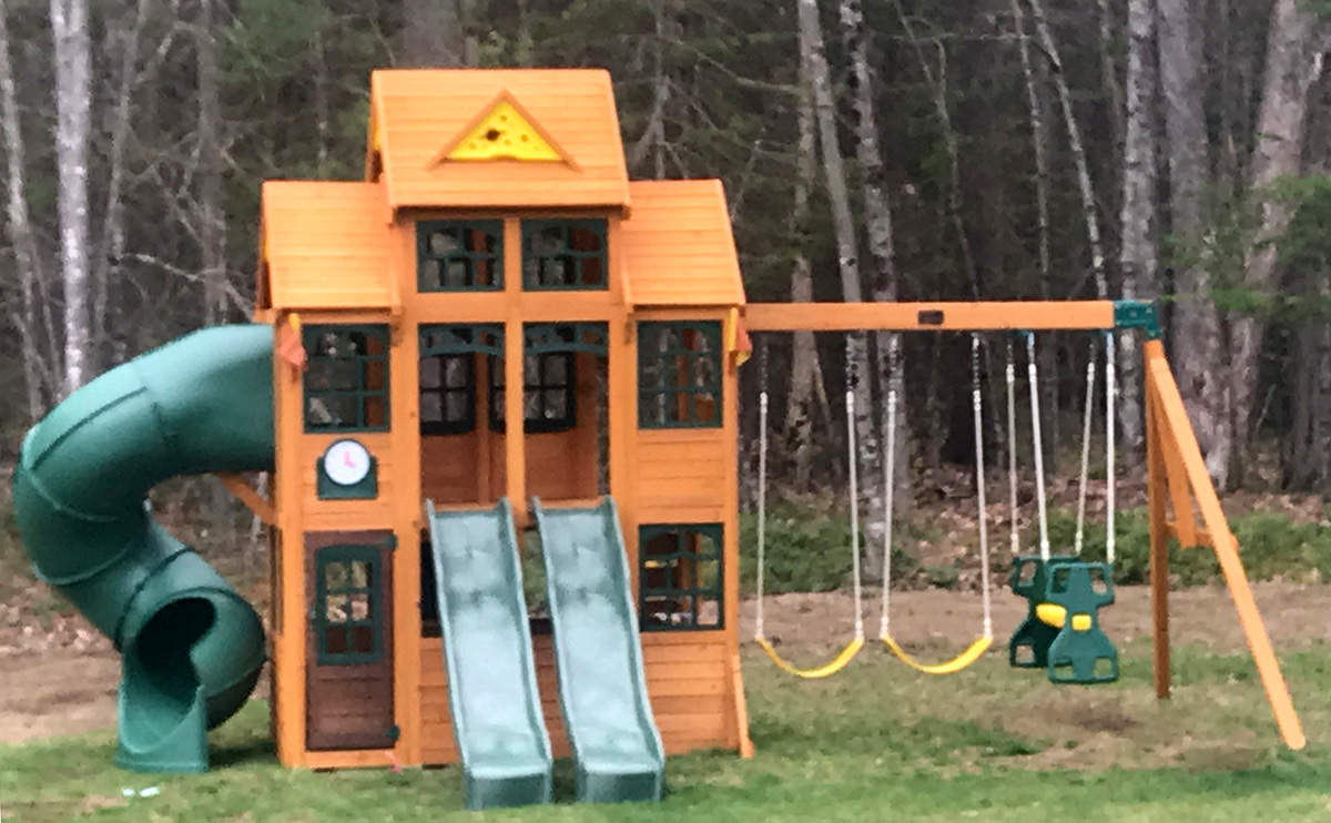 New England Playset Assembly Saco Me Playset Installation