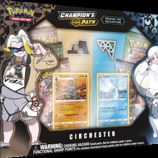 Pokemon TCG: Champion's Path Special Pin Collection Circhester Coalossal Lapras