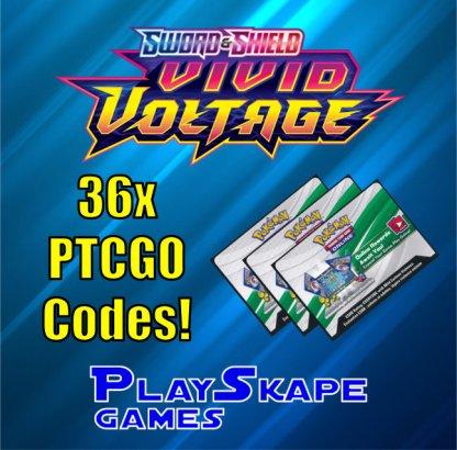 PTCGO CODES - 36 x Vivid Voltage Booster Packs Pokemon Online Cards