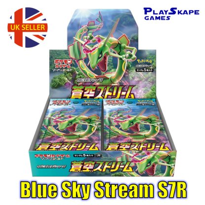 S7R Blue Sky Stream (Evolving Skies) Rayquaza Japanese Booster Box Pokemon Card Game