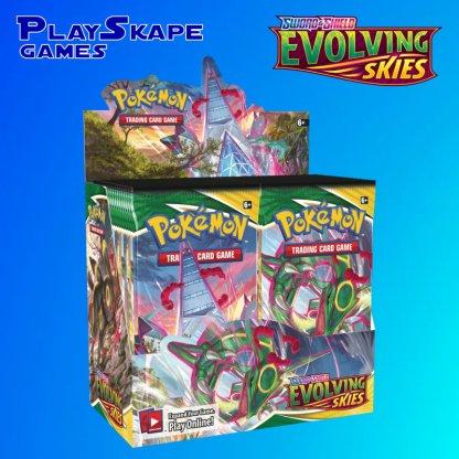 Evolving-Skies-Sword-And-Shield-Pokemon-TCG-SWSH7-Cards-Elite-Trainer-Booster-Box-Duraldon-Rayquaza-Packs