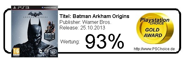 Batman Arkham Origins - Die Wertung von Playstation Choice
