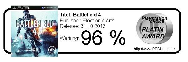 Battlefield 4 - Die Wertung von Playstation Choice