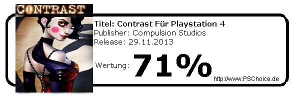 Contrast PS4- Die Wertung von Playstation Choice