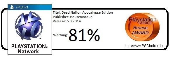 Dead Nation Apocalypse Edition PS4 PSN- Die Wertung von Playstation Choice