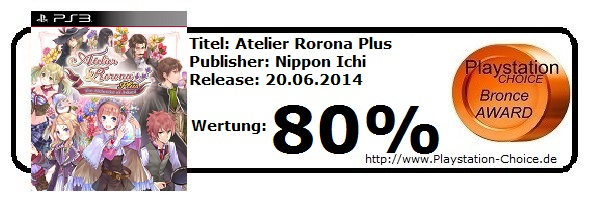 Atelier Rorona Plus-Die-Wertung-von-Playstation-Choice