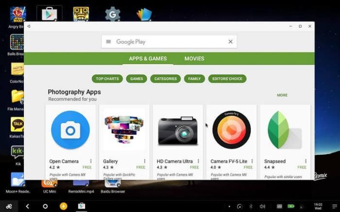Google Play Store on PC using Bluestacks