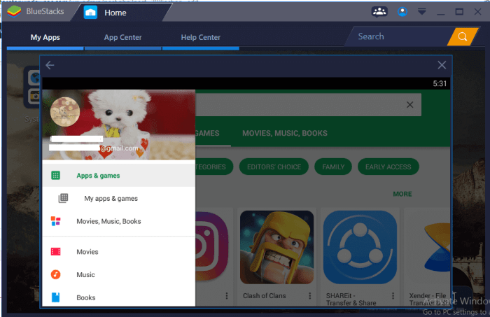 Google Play Store for Mac using Bluestacks