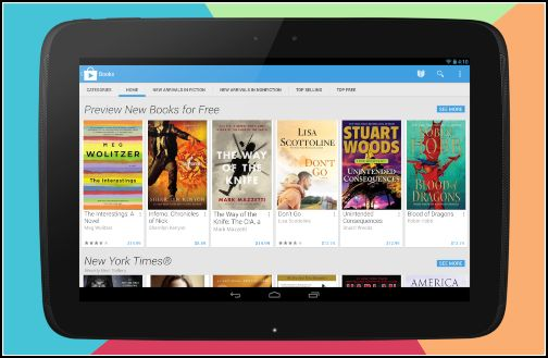 Google Play tablet