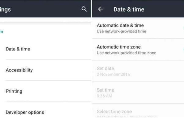Turn Off the Automatic Date & Time
