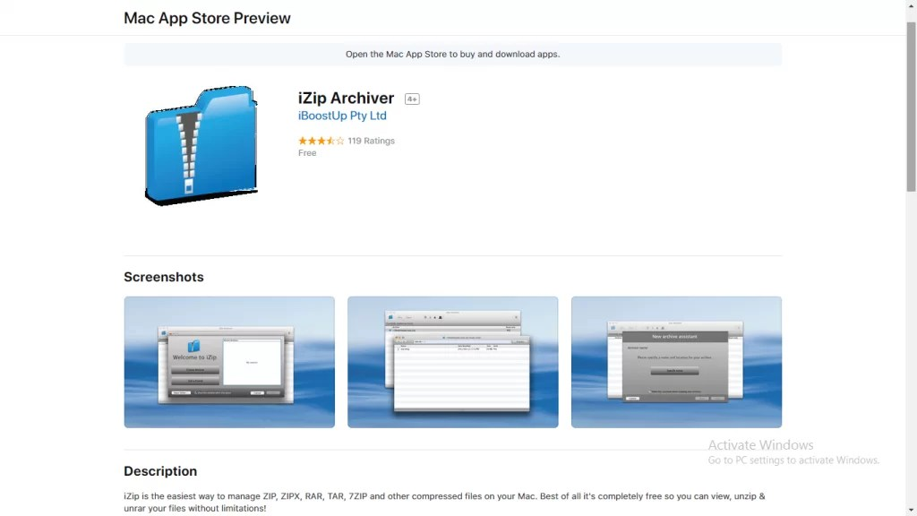 Zip for Mac