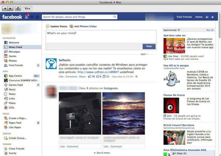 Facebook for Mac