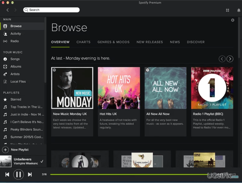 Spotify on mac app store