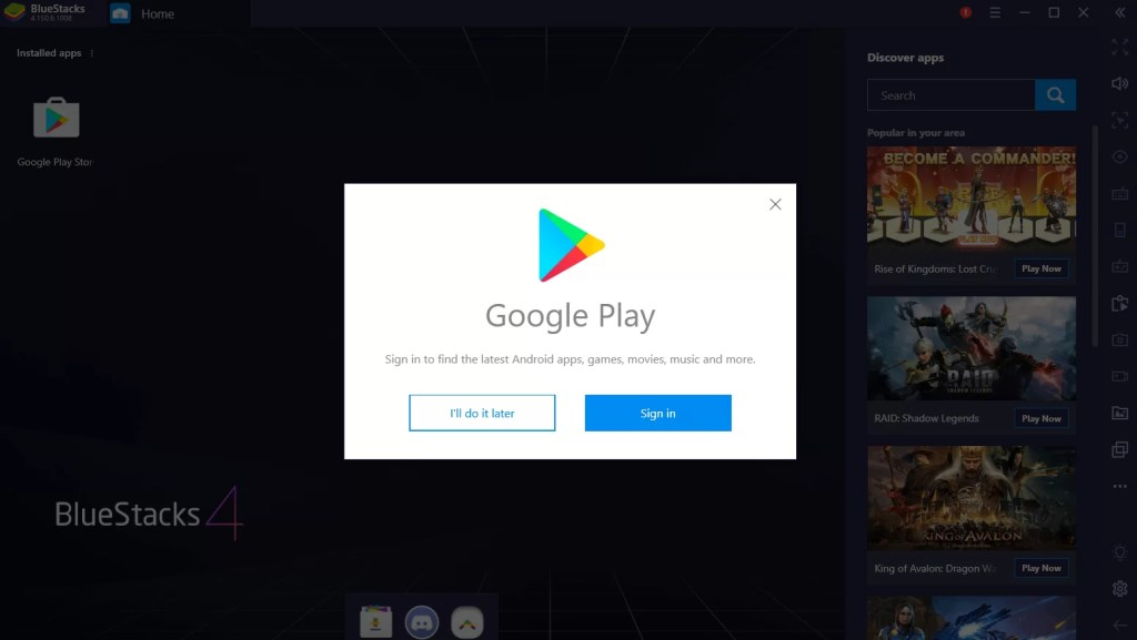 Play Store on PC