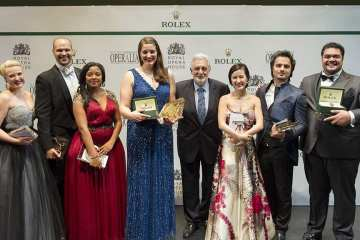 Placido Domingo and Operalia 2015 Winners_(c) Alastair Muir