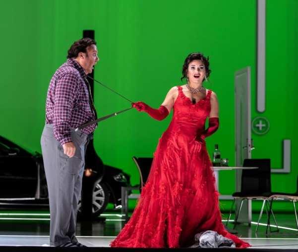 Bryn Terfel as Don Pasquale and Olga Peretyatko as Norina