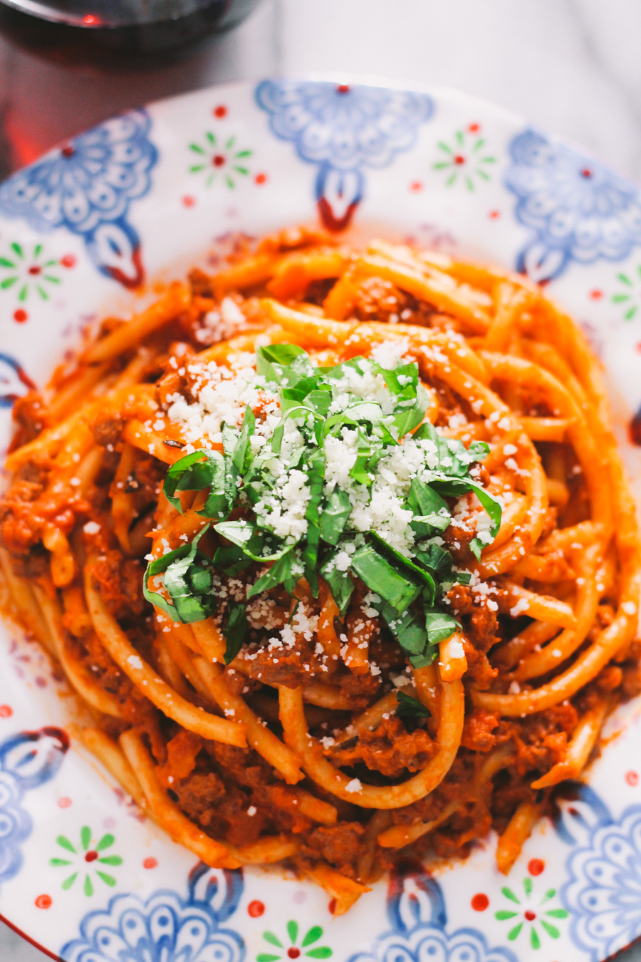 pasta bolognese with bucatini & 24 more make-ahead meals via playswellwithbutter | with just a little planning in advance & a little organization over the weekend, you can set yourself up with a week's worth of delicious meals that will come together faster than you could order pizza or pick up chipotle.